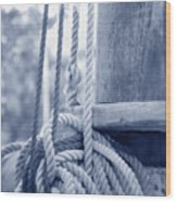 Rope And Mast Wood Print