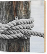 Rope Fence Fragment Wood Print