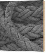 Rope I Wood Print
