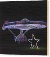 Rope Light Art Star Trek Enterprise Wood Print