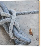 Rope On Cleat Wood Print