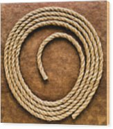 Rope On Leather Wood Print