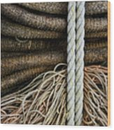 Ropes And Fishing Nets Wood Print