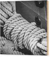 Ropes And Pulleys Wood Print