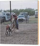 Roping Event 3 Wood Print