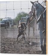 Roping Event 5 Wood Print