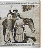 Roping Her Romeo 1919 Wood Print