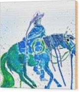 Roping Horse Wood Print