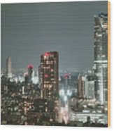 Roppongi From Tokyo Tower Wood Print
