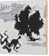 Rorschach 1 Wrestlers Wood Print