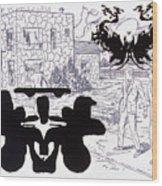 Rorschach 3 Angel Of Death Wood Print