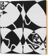 Rorschach Maze Wood Print