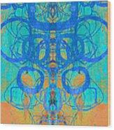 Rorschach Test Art Orange Wood Print
