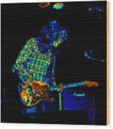 Saturated Blues Rock Wood Print