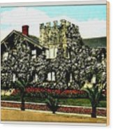 Rose-covered Residence, Long Beach Ca, 1910 Wood Print