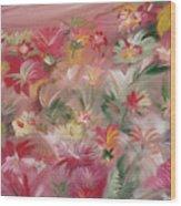 Rosa Bluetenmeer Wood Print