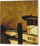 Rosa Marie Wood Print