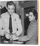 Rosa Parks 1913-2005, Whose Refusal Wood Print