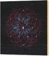 Rosace - Rose Nebula Wood Print