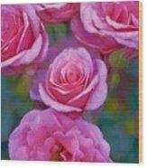 Rose 344 Wood Print