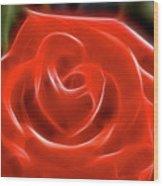 Rose-5845-fractal Wood Print