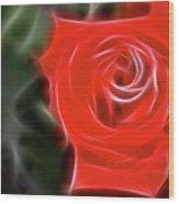 Rose-5890-fractal Wood Print
