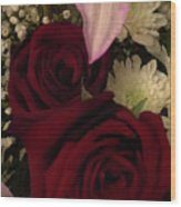 Rose And Lily Wood Print