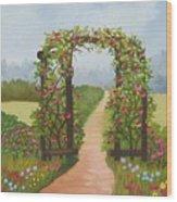 Rose Arbor Wood Print