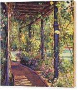 Rose Arbor Toluca Lake Wood Print by David Lloyd Glover