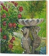Rose Bath Wood Print