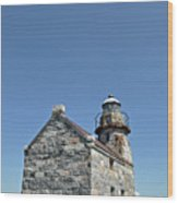Rose Blanche Lighthouse II Wood Print