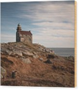 Rose Blanche Lighthouse Wood Print