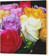 Rose Bouquet Painting Wood Print