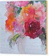 Rose Bowl II Wood Print