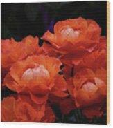 Rose Cluster Wood Print