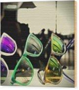 Rose Colored Glasses Wood Print
