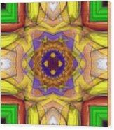 Rose Cross Wood Print