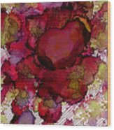 Rose Deep Wood Print