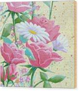Rose Diptych 1 Wood Print
