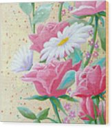 Rose Diptych 2  Wood Print