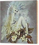 Rose Fairy Wood Print