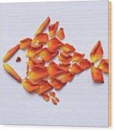 Rose Fish Wood Print