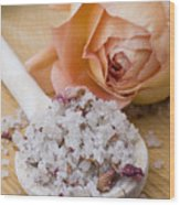 Rose-flavored Sea Salt Wood Print by Frank Tschakert