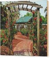 Rose Garden Entrance Wood Print