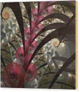 Rose Hip Bush Wood Print