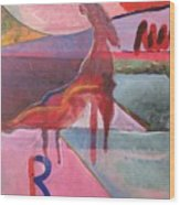 Rose Horse Wood Print