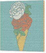 Rose Ice Cream Wood Print