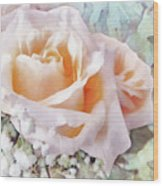 Rose Ivy Wood Print