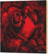 Furious Rose Magic Red Wood Print