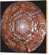 Rose Of Life Copper Lightmandala Wood Print
